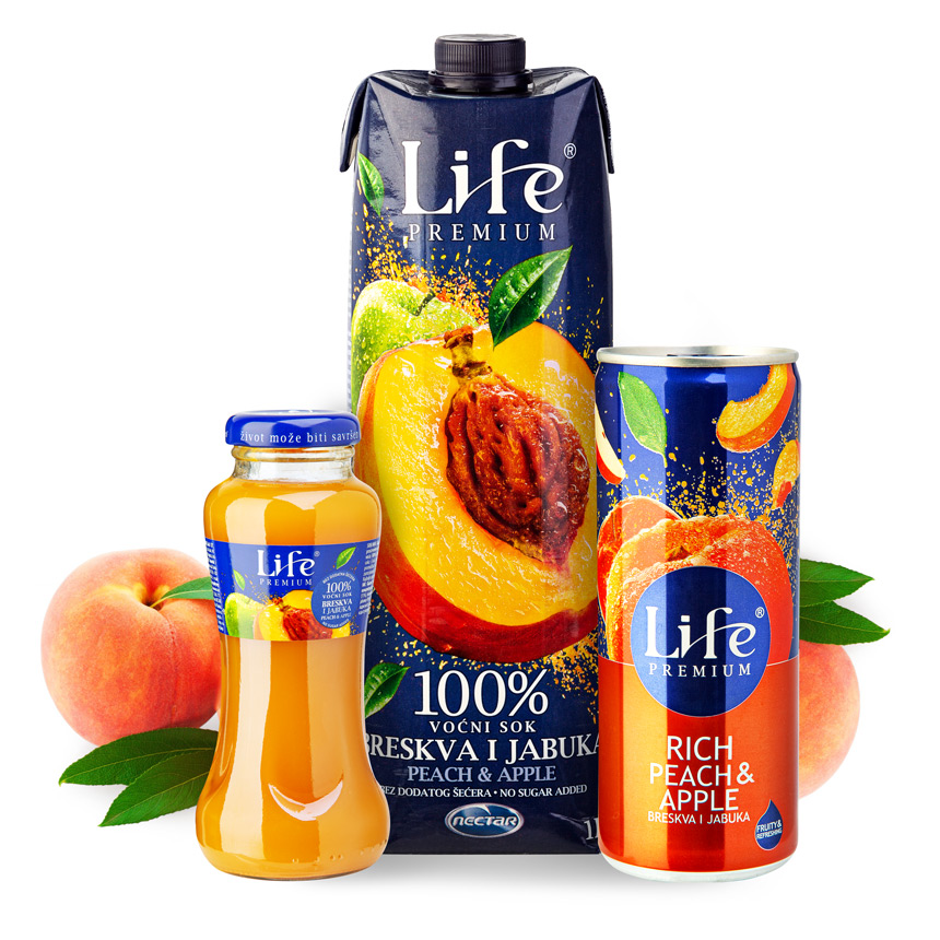 Life Premium Peach Apple